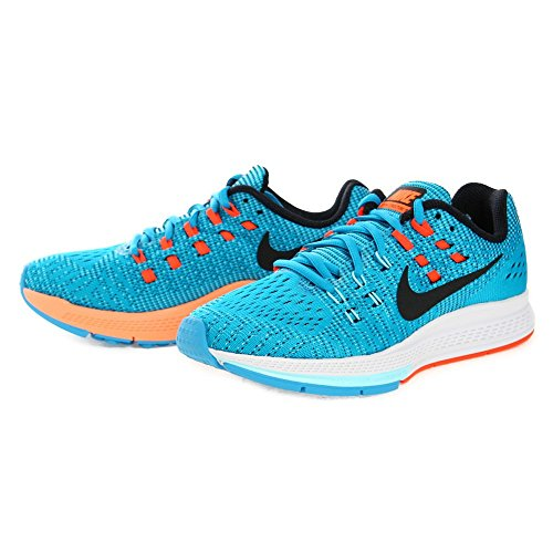 Nike W Air Zoom Structure 19, Chaussures de Sport Femme Blue Lagoon/Copa/Bright Crimson/Black