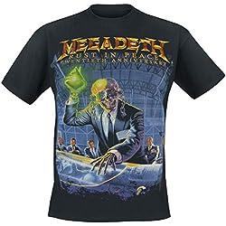 Megadeth Rust In Peace (Anniversary) Camiseta Negro