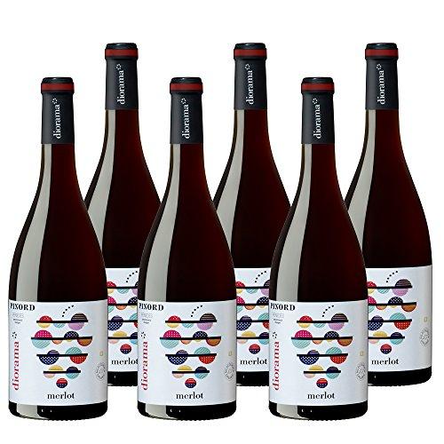 Pinord Diorama Merlot Vino Ecológico - 6 botellas x 750 ml - Total: 4500 ml width=