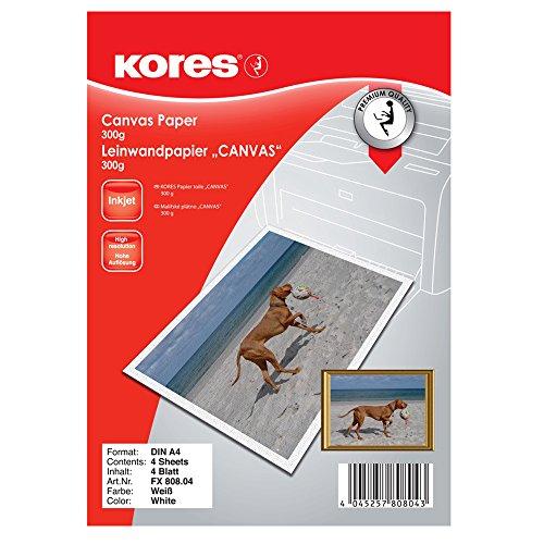 Kores FX808.04 Leinwand papier Canvas, 300 g, weiß