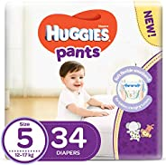 Huggies Active Baby Pants - Size 5, 12-17 kg, 34 Diapers Pants