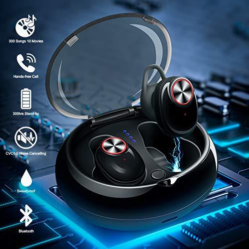 Mini Kopfhörer Bluetooth, in ear kopfhörer bluetooth TWS CVC 6.0 noise cancelling in ear kopfhörer bass Mini Kopfhörer Bluetooth 5.0 true wireless kopfhörer mit tragbare Ladestation( Update-Version) Mini-noise-cancelling-kopfhörer