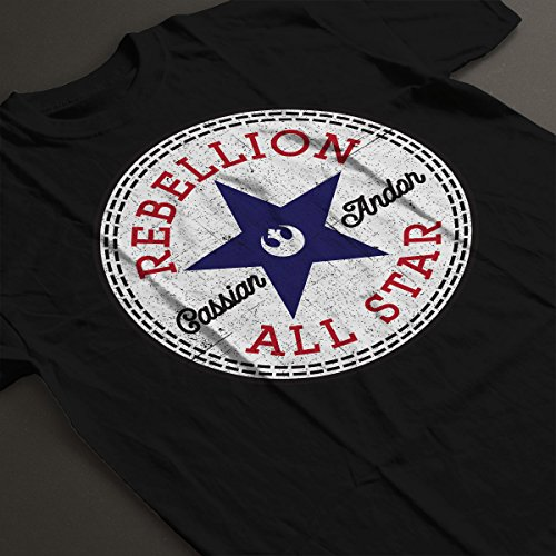 Star Wars Rogue One Rebellion Cassian Converse Logo Women's T-Shirt Black