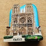 Imán para nevera, diseño de Notre Dame de Paris France en 3D, decoración para el hogar y la cocina