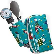 AIESI Esfigmomanometro Tensiómetro Manual Pediatrico Profesional Aneroide clásico con brazalete de colores para ninos DOCTOR PRECISION