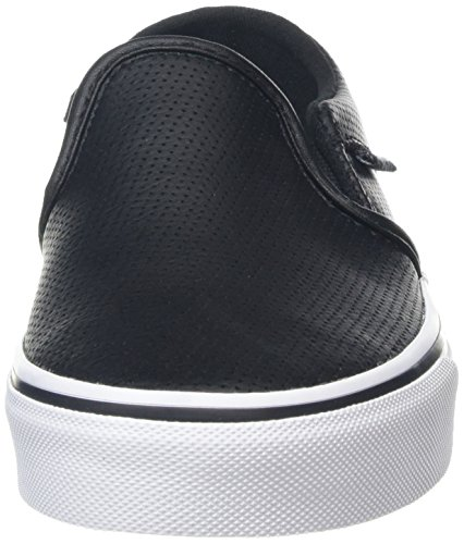Vans Wm Asher, Sneakers Basses Femme Noir (Perf Leather)