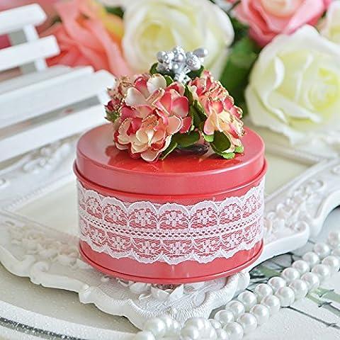 XHDWNBM 20 Pcs Nozze Nozze cartuccia di zucchero della banda stagnata Hi Contenitore zucchero Creative Wedding Candy Box nozze continentale Natale scatola regalo , piccolo 7.5*4.5Cm