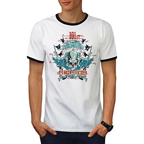 Airborne Aufteilung Schädel Krieg Flug Herren S Ringer T-shirt | Wellcoda (T-shirt Airborne Dunklen)