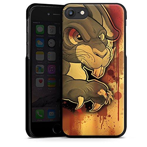 Apple iPhone X Silikon Hülle Case Schutzhülle Tattoo Böses Kaninchen Hard Case schwarz