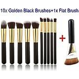 GYBest 11pcs Brushes (10x Golden Black L...
