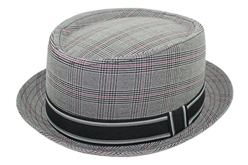 Cherry-on-Top Festival grau Pork Pie Trilby Hut Fedora Hut, 57 Gr. One Size, Grau - Hellgrau - Männer Top Hüte