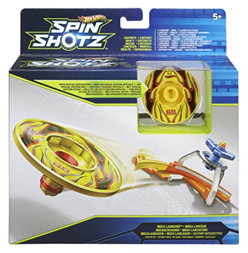 Mattel Hot Wheels - Spin Shotz Y1641 Mega Launcher (Hotwheels Autos Launcher)