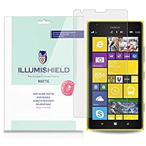 iLLumiShield - Nokia Lumia 1520 Anti-Glare (Matte) Screen Protector HD Clear Film / Anti-Bubble & Anti-Fingerprint / Premium Japanese High Definition Invisible Crystal Shield - Free LifeTime Warranty - [3-Pack] Retail Packaging