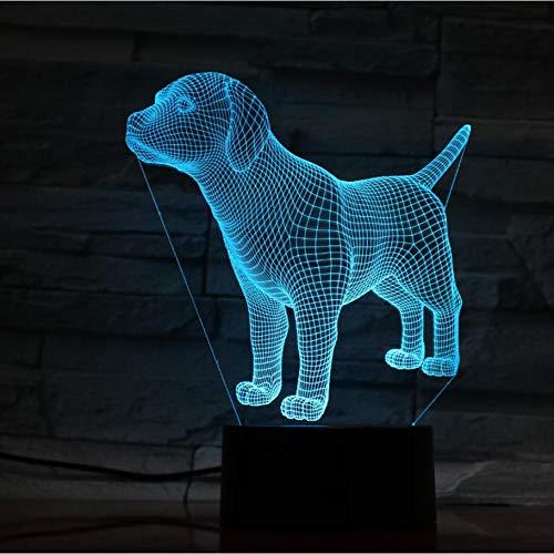 Yddlie Nettes Hündchen-Nachtlicht-Tier-LED beleuchtet Tischlampen für Hauptdekor-Weihnachtsneuheits-Geschenke für Kinder Kinder -