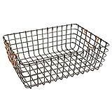 WM Homebase Metallkörbe Schalen Wäschesammler Aufbewahrungskorb Drahtkorb aus Metall mit Griffen für Badzubehör oder Spielzeug Grau 43x30x15CM