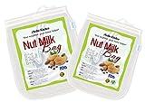 iNeibo Kitchen sacchetto per latte vegetale/ sacchetto filtrante, latte di soia, nocciola, mandorla, yogurt, caffe, vino e birra, utile anche per tutti i succhi di frutta e verdura, un sacchetto di alta qualità, facile da pulire, super resistente e approvato dalla FDA, Eco Friendly, un Set da 2 sacchetti(10'x12' & 12'x12'), Ideale per i vegani!