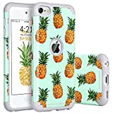 BENTOBEN iPod Touch 5 Hülle, iPod Touch 6 Hülle, iPod Touch 5g 6g Schutzhülle Dual Layer Schutz Case Cover Hülle für Apple iPod Touch 5 iPod Touch 6 Generation Ananas Muster