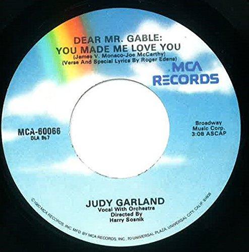 Over The Rainbow / Dear Mr. Gable: You Made Me Love You [Vinyl Single 7''] (Garland Judy Rainbow The Over Lp)
