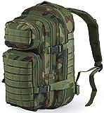 Nitehawk - Sac à dos multifonction avec système d'attache MOLLE - style militaire - 30 L - Camouflage