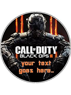 Sensational A4 Call Of Duty Advanced Warfare Edible Icing Birthday Cake Topper Funny Birthday Cards Online Inifodamsfinfo