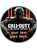 Essbarer Tortenaufleger, Motiv Call Of Duty 3, 19,1cm, rund, Neuheit, für Geburtstage