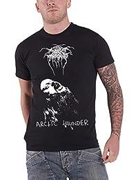 Darkthrone T Shirt Fenriz Arctic Thunder band logo nouveau officiel Homme Noir