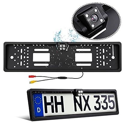 Rckfahrkamera-Nummernschild-Tvird-Europa-Kennzeichen-mit-4-LEDs-Nachtsicht-170-Sichtwinkel-IP68-Wasserdicht