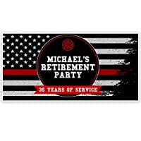 Firefighter Retirement Party Personalized Banner Easy to Apply and Removed
