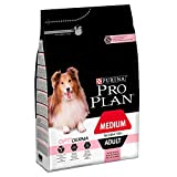 Pro Plan Dog Medium Adult, Sensitive Skin, Reich an Lachs, Trockenfutter Beutel