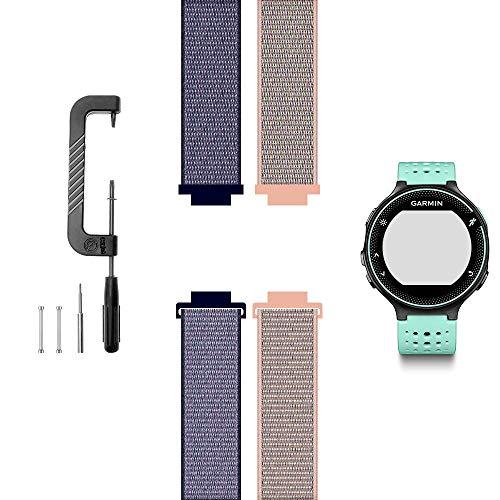 c2d joy compatibile con la sostituzione del garmin forerunner 220/230/235/620/630 / 735xt, cinturino morbido e traspirante con cinturino sportivo-09#,12#, s