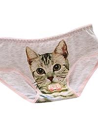 LEvifun Culottes Femme Shorties Femmes Coton 3D Chat Panties Lingerie Femme  Sexy String Sexy Femme sous-vêtement Slip Strings et… 997acb1d9f2