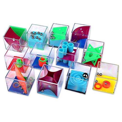 Schramm® 12 Stück Geduldsspiele Mini Denkspiel Knobelspiel für Kinder Geduld Spiel Mitgebsel Kindergeburtstag Geduldsspiel Kinder Geschicklichkeitsspiel