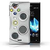 Coque de Stuff4 / Coque pour Sony Xperia J (ST26i) / Blanc Xbox 360 Design / Console (jeux vidéo) Collection