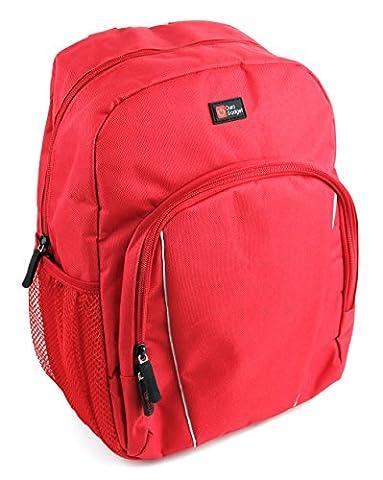 DuraGadget roter Kinder Rucksack mit bequemen Tragekomfort für Leapfrog Kinder Tablets und Mattel Fisher-Price CDG57 Lernspaß