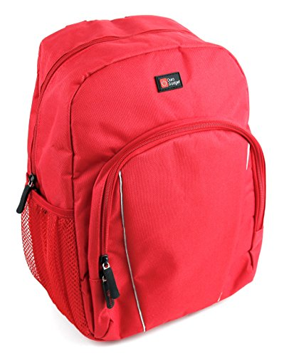 Duragadget Kinder-Rucksack in Rot mit Regenkappe. Ideal für Vtech Preschool Colour Tablet (80-155204) und Oregon Scientific Xplore Meep! OP0118-12 Kinder-Tablets