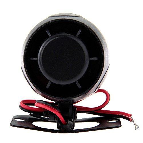 TOOGOO(R)Sirena Avvisatore Acustico Allarme 120dB 12V per Antifurti Auto Bici Universale nero - Megafono Auto