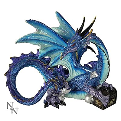 Nemesis Now Piasa 12cm Dragon Ornament Blue And Purple Nem5695