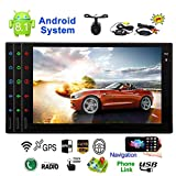 EINCAR Android 8.1 Auto-Stereo-Radio Doppel-DIN-2GB + 16GB mit GPS-Navigation WiFi Android Oreo Auto Fast-Boot-Wireless-Backup-Kamera-Unterst¨¹Tzung 128GB USB SD 4G Bluetooth 7-Zoll-Touch-Screen-Bunt