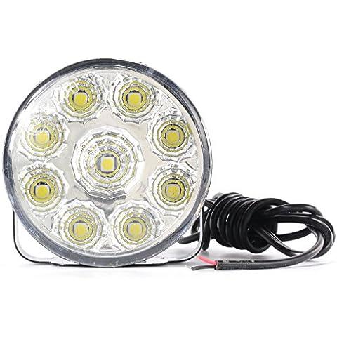 2x 9 Led Impermeabile Luci Diurne Daylight Running Light 12v LED DRL dell'automobile Luce Bianca MA137