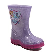 George Girls Paw Patrol Glitter Wellies Wellington Boots