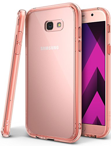 Funda-para-Galaxy-A5-2017-Ringke-FUSION-Protector-de-TPU-con-Parte-Posterior-Transparente-de-PC-Caso-Protectora-Biselada-para-Samsung-Galaxy-A5-2017-Cristal-Oro-Rosa-Rose-Gold-Crystal