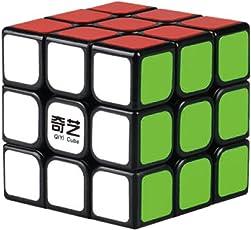 QIYI Sail Cubo magico 3x3x3 | Cubo di Rubik di ultima Generazione veloce e liscio | Materiale durevole e non tossico | Cubo Magico per adulti e ragazzi | Nero