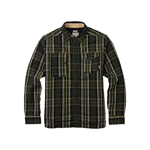 'burton–camicia mill in pile lined, uomo, hemd mill fleece lined, keef north end, l