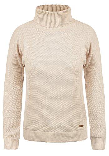 DESIRES Sina Damen Rollkragenpullover Waffelstrick Pullover Mit Rollkragen Aus 100% Baumwolle, Größe:XL, Farbe:Sandshell (0265)