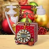 estilo pastoral / teléfonos antiguos / teléfono fijo familia-Versión roja 1