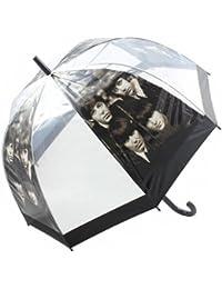Paraguas transparente de 81cm, con forma de cúpula y mango en forma de U, con diseño de los Beatles
