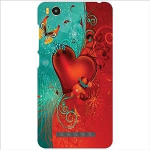 Xiaomi Mi4i MZB4300IN Back Cover - Red Heart Designer Cases