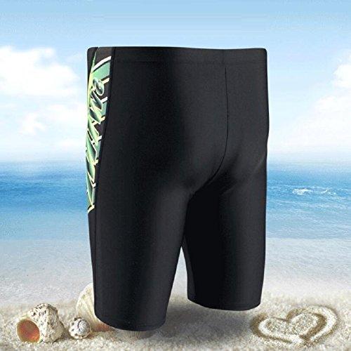 LJ&L Herren-Schwimm-Shorts, bequeme große Schwimmenstämme Strandhosen, atmungsaktive, schnell trocknende Stretch-Stoff-Badehose B