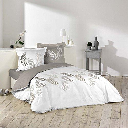 Douceur d \'Intérieur Bettwäsche Bettbezug, Baumwolle, Mehrfarbig, 220x 240cm