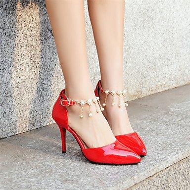 Les talons des femmes Printemps Été Automne Autres Fleece Office & Carrière Partie & robe de soirée boucles et d'autres rouge gris rose Red